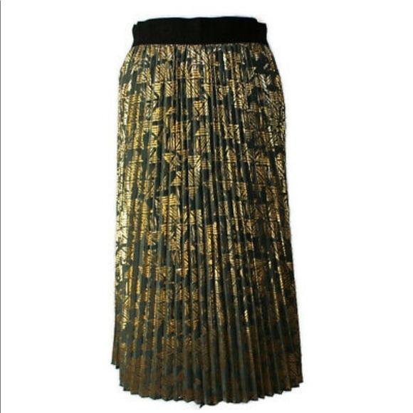 LuLaRoe Elegant Jill Midi Pleated Skirt Sz M